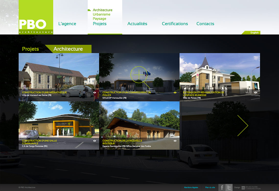 Design site architecte